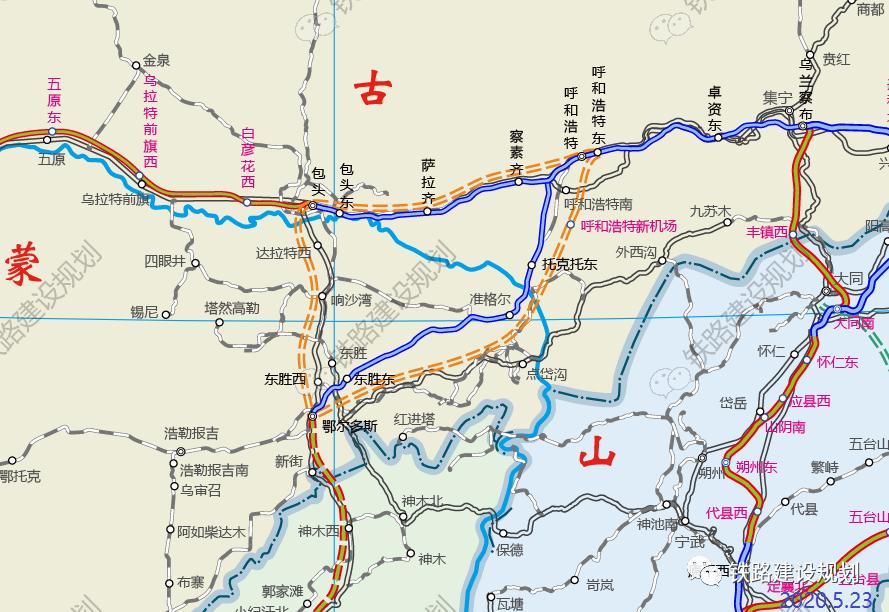 包西高铁、呼包高铁建设上马呼包鄂有望实现1小时通勤